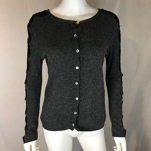 Zara Knit Women's Gray Medium Cardigan Sweater